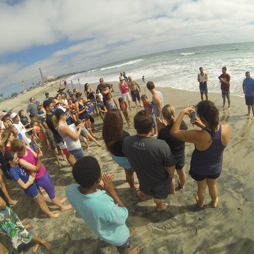 Beach Baptism 2015 Image 17